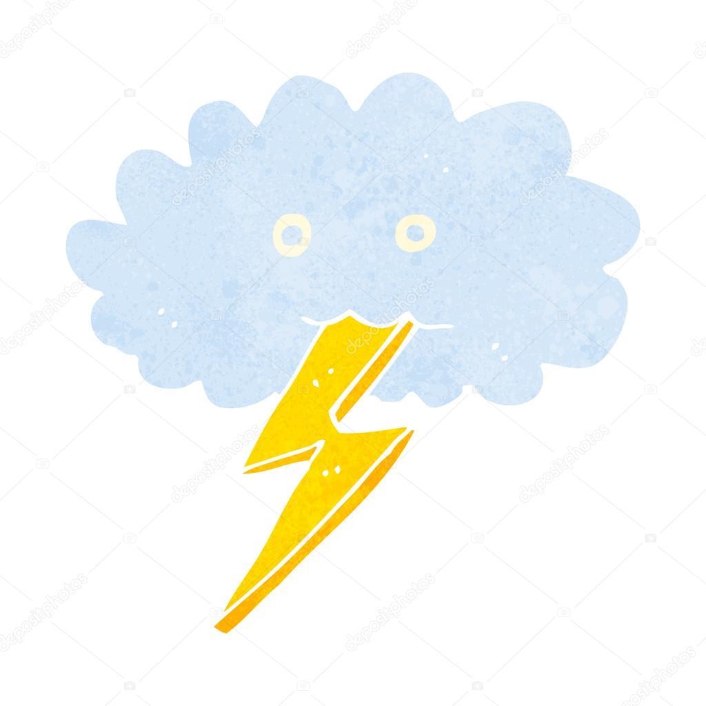 卡通闪电箭和云 — 图库矢量图片#48202881