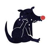 Cartoon dog scratching — Stock Vector