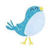 Cartoon singing bird — Stock Vector