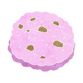 Pink cookie cartoon — Stock Vector