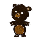 Cartoon funny teddy bear — Vettoriale Stock