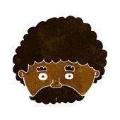 Uomo di cartone animato con i baffi — Vettoriale Stock