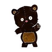 Cute black bear cartoon — Stock Vector
