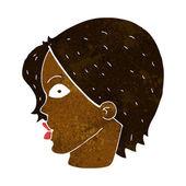 Cartoon staren vrouw — Stockvector