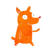 Kreskówka macha mały pies — Wektor stockowy