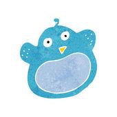 Cartoon fat bird — Stock Vector