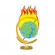 Cartoon burning globe — Stock Vector #48489743