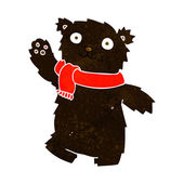 Cartoon teddy bear wearing scarf — Wektor stockowy