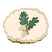 Cartoon acorn symbol — Stock Vector