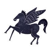 Magia kreskówka latający koń — Wektor stockowy