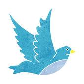 Cartoon flying bird — Stock Vector