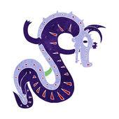 Saxon dragon cartoon — Stock Vector