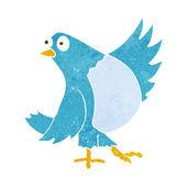 Cartoon dancing bluebird — Stock Vector