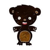 Cartoon black bear — Stock Vector