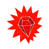 Cartoon huge ruby — Vector de stock