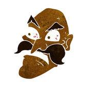 卡通愤怒的老男人 — 图库矢量图片