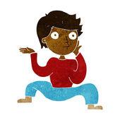 クレイジー ダンスをやって漫画少年 — ストックベクタ