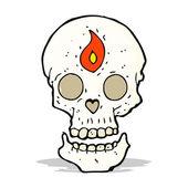 Cartoon mystic skull — Stock Vector