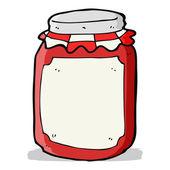 Cartoon jar of preserve — Stock Vector