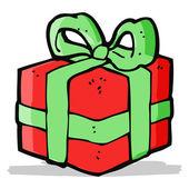 Cartoon christmas present — Vector de stock