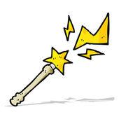 Cartoon magic wand casting spell — Stock Vector