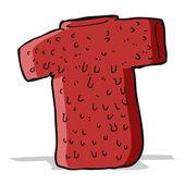 Cartoon woolly tee — Stock Vector