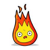 Cartoon friendly fireball — Stock Vector