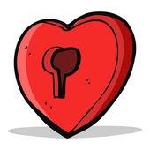 Cartoon heart with keyhole — Vecteur