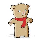 Cartoon-Teddybär — Stockvektor