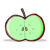 Cartoon sliced apple — Stock Vector
