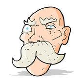 Dessin animé en colère vieil homme — Vecteur