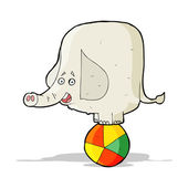 Cartoon circus elephant — Stock Vector