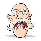 Cartoon angry old man — Stock Vector