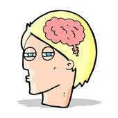 Hombre de dibujos animados pensando cuidadosamente — Vector de stock