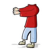 Cartoon headless body (mix and match cartoons or add own photo) — Vecteur