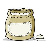 Cartoon bag of flour — Stock Vector