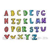 Cartoon alfabet — Stockvector