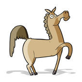 Cavalo engraçado dos desenhos animados — Vetorial Stock