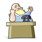 Cartoon arrogant boss man — Stock Vector