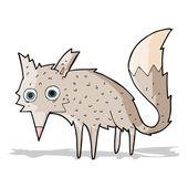 Vtipné kreslené vlk — Stock vektor
