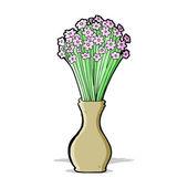 Cartoon flowers in pot — Stock Vector