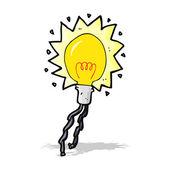 мультфильм электрическая лампочка — Cтоковый вектор
