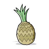 Cartone animato ananas — Vettoriale Stock