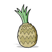 Kreslený ananas — Stock vektor