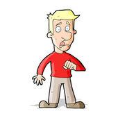 мультфильм потрясен человек — Cтоковый вектор