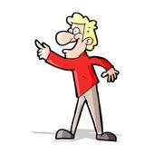 Homem dos desenhos animados, apontando e rindo — Vetorial Stock