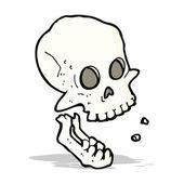 Cartoon laughing skull — Stock Vector