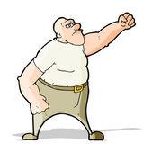 Hombre enojado de dibujos animados — Vector de stock