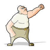 Rozhněvaný muž kreslený — Stock vektor