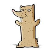 Funny cartoon bear — Stock Vector